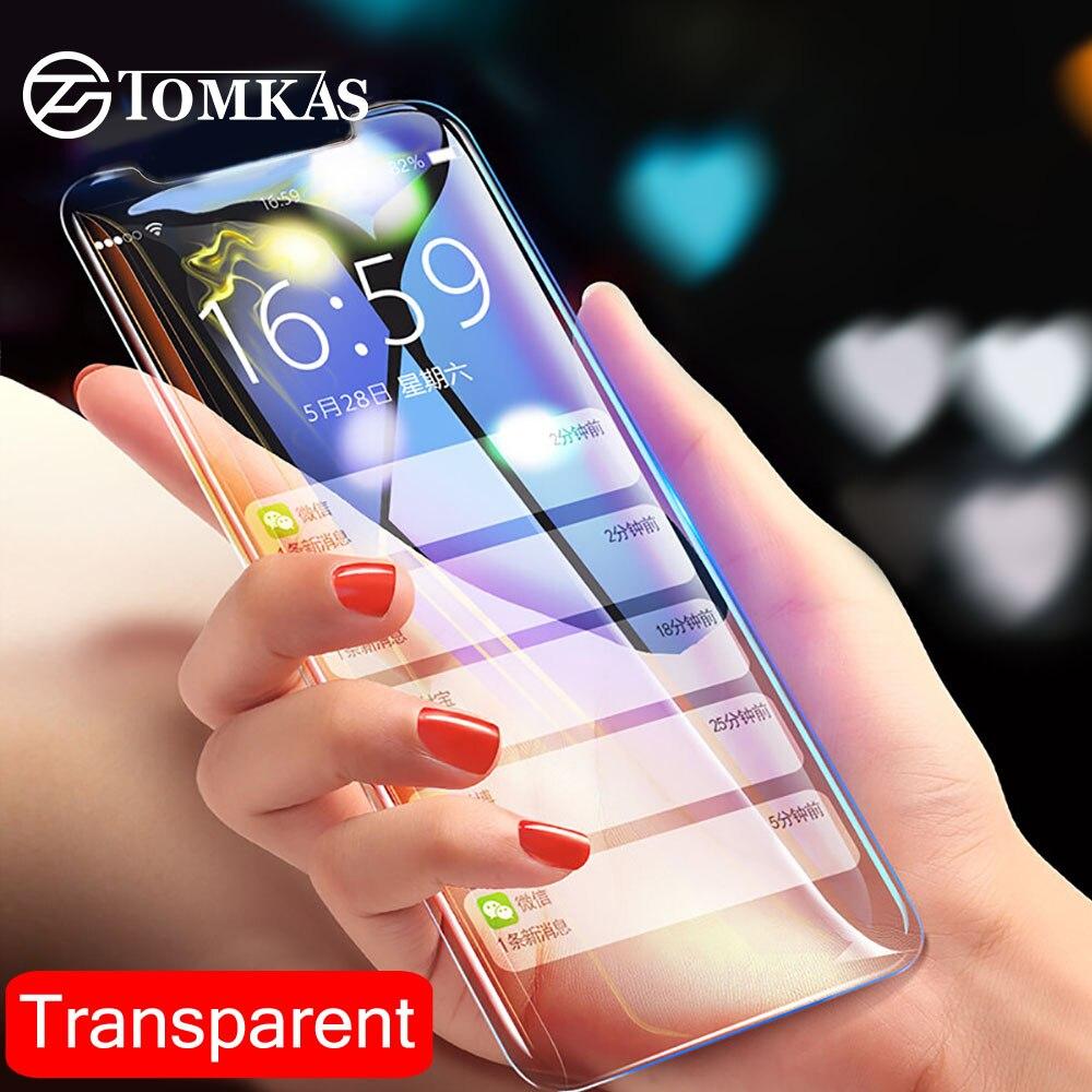 TOMKAS מגן זכוכית עבור iPhone X XS Max XR זכוכית מזג מגן מסך עבור iPhone 7 8 6 6 s בתוספת iPhone XS מקסימום 5 SE סרט