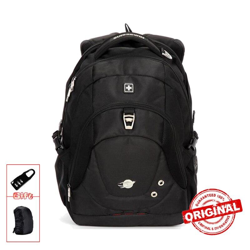 Suissewin Fashion Backpack School Laptop Backpack Bag Travel Backpack Men Women Bagpack White Mochila Female SN9323