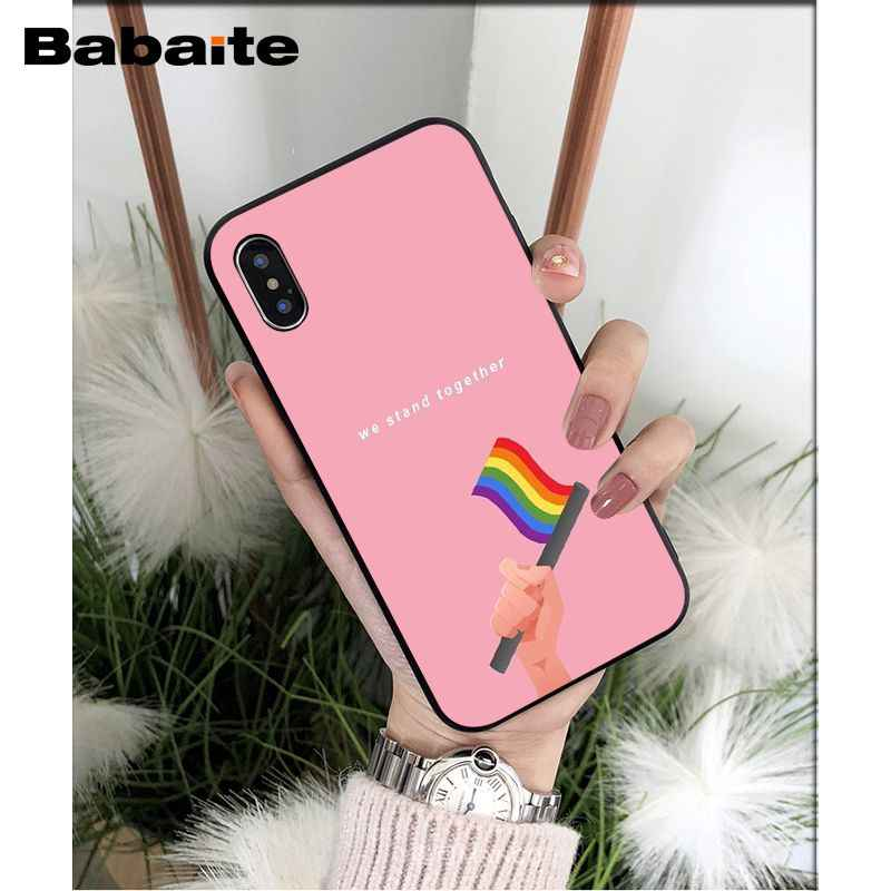 Babaite eşcinsel lezbiyen LGBT gökkuşağı yüksek kalite telefon kılıfı için Apple iPhone 8 7 6 6S artı X XS MAX 5 5S SE XR mobil kapak