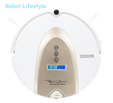 2019 Powerful Robot Vacuum Cleaner ,Map navigation ,Smart Memory, Map Shown on Wifi APP, Water tank все цены