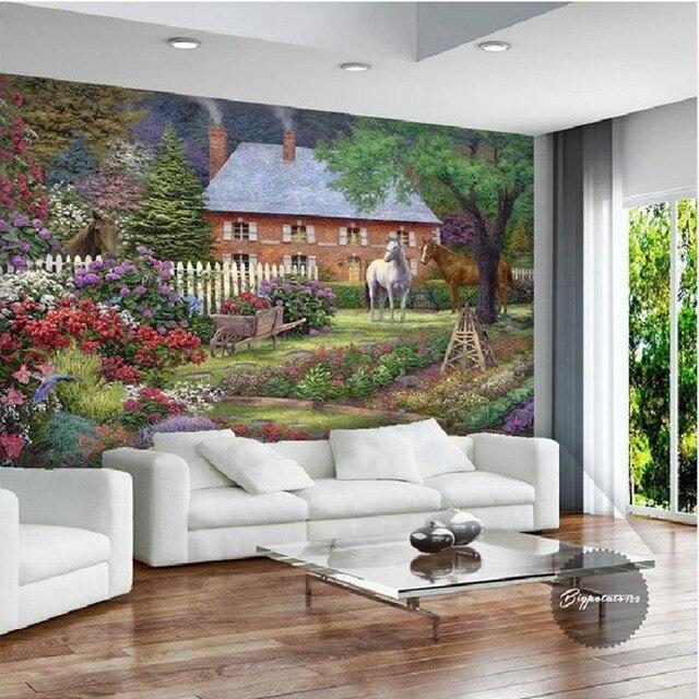 Fototapete benutzerdefinierte 3D wald landschaft tapeten schlafzimmer sofa  wohnzimmer vlies bunte blume tapete wandbild