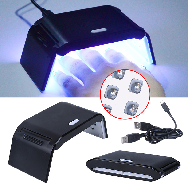 Belen Manicure Foldaway 7W Nail Dryer Mini LED UV Lamp Gel Curing LED Light Timer 30s 60s With Double USB Line Nail Art Tool nail clipper cuticle nipper cutter stainless steel pedicure manicure scissor nail tool for trim dead skin cuticle
