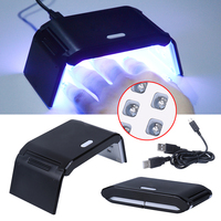 Belen Manicure Foldaway 7W Nail Dryer Mini LED UV Lamp Gel Curing LED Light Timer 30s 60s With Double USB Line Nail Art Tool