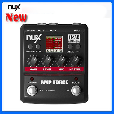 все цены на  NUX Force series /Stomp Boxes / Guitar Effect Pedals/ AMP FORCE Modeling Amp Simulator  онлайн