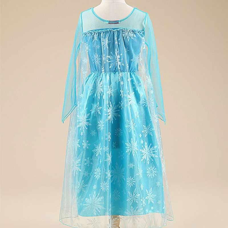 Новые поступления платья для девочек наряд костюм принцессы Анна Эльза для девочек детское праздничное платье одежда для девочек