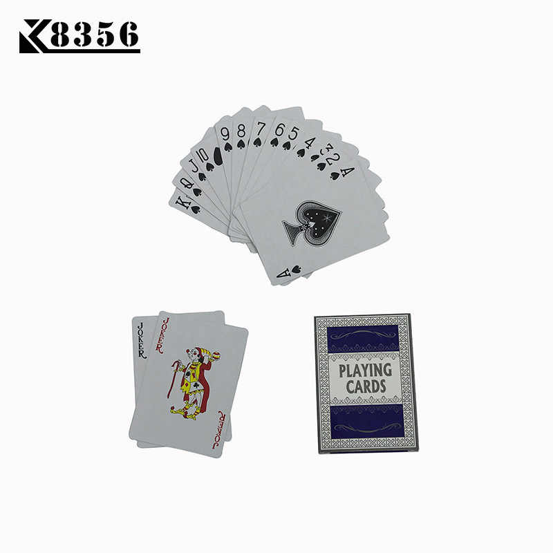 K8356 Paper Playing Cards Game 1Set Little Letters Texas Hold'em Smooth Poker Cards Deck Baccarat Board Game Card 2.48*3.46 inch