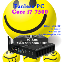 Intel Core I7 Gen 7th 7500u Mini PC Windows 10 HDMI DP 4K HTPC Desktop Computer