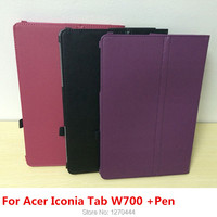 New Arrival Litchi Skin PU Leather Capa Para Case Cover For Acer Iconia Tab W700 11