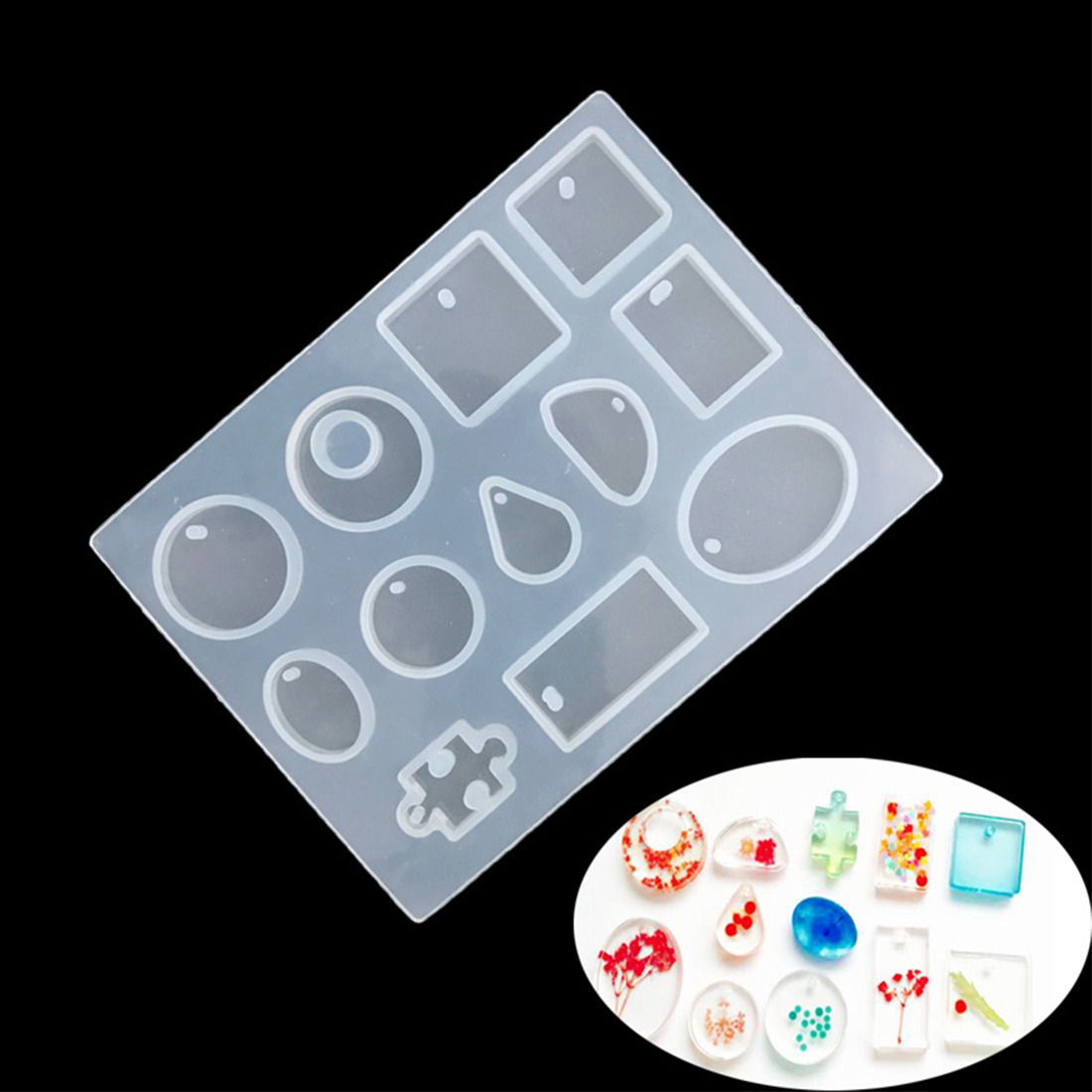 NEW Waterdrop Silicone Mould DIY For Resin Casting Jewelry Pendant Mold Fondant Cake Decorating Tool Gumpaste Mold
