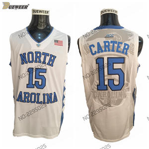 d1b91372322 DUEWEER Mens North Carolina Tar Heels Vince Carter College Basketball Jersey