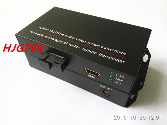 2 PCS hdmi de áudio e vídeo Transceptor de Fibra Óptica hdmi hdmi switch conversor óptico 1080 P Única Fibra 20 KM SC