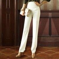 Straight Pants Female Autumn New Korean Trousers Commuter Slim Slimming High Waist Professional Women's Pants White Trousers