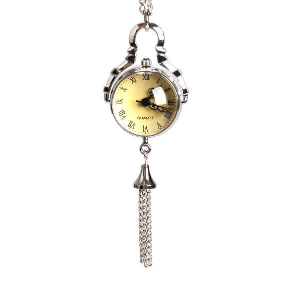 New  Fisheye Style White Steel Retro Quartz Necklace Pocket Watch Chain Belt     LXH old antique bronze doctor who theme quartz pendant pocket watch with chain necklace free shipping
