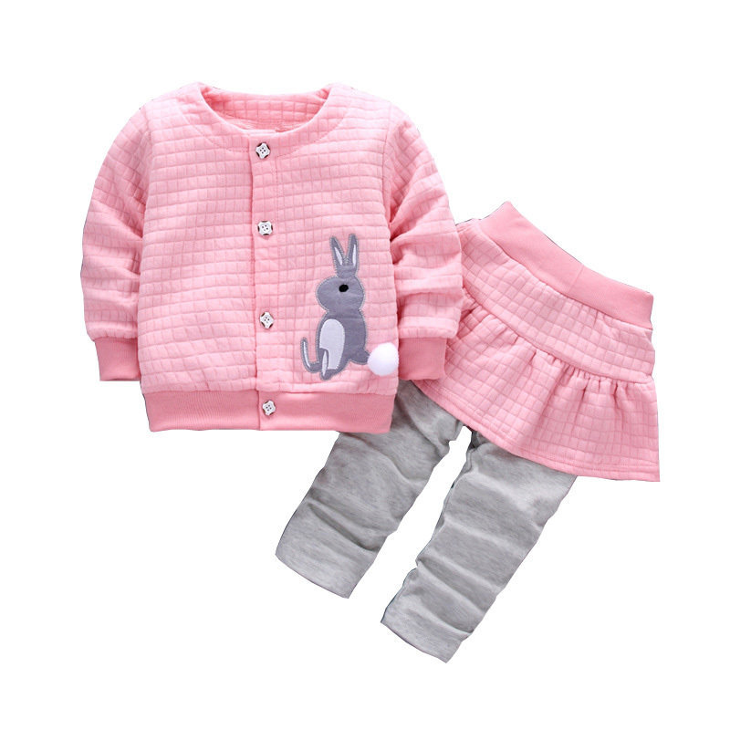 2019 New Style 2019 New Spring Autumn Baby Cotton Embroidered Clothes Toddlert-shirt Skirt Pants 2pcs/set Suit Little Girl Newborn Clothing Distinctive For Its Traditional Properties