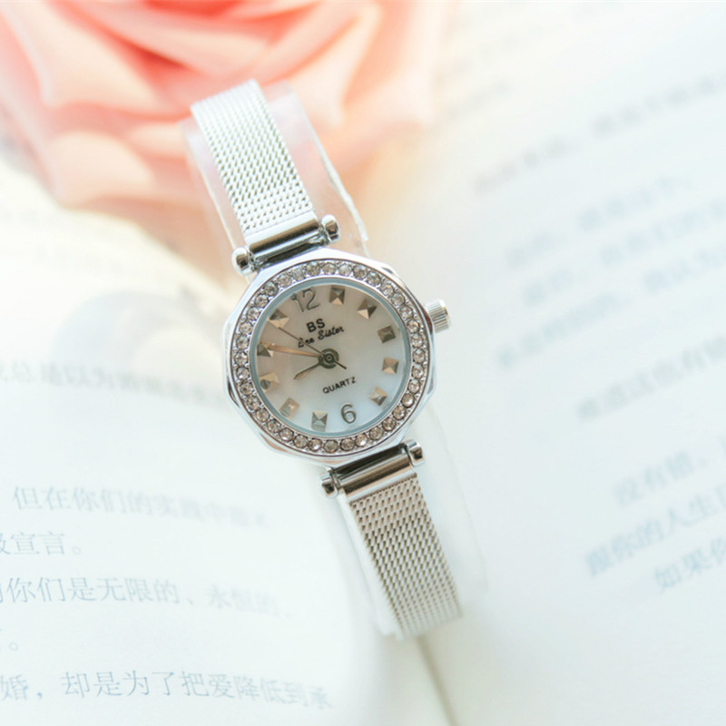 New Hot Ladies Imported Quartz Movement Watch High end Listing Custom Full Rhinestone Dial Small Chain Female Watch in Women 39 s Watches from Watches