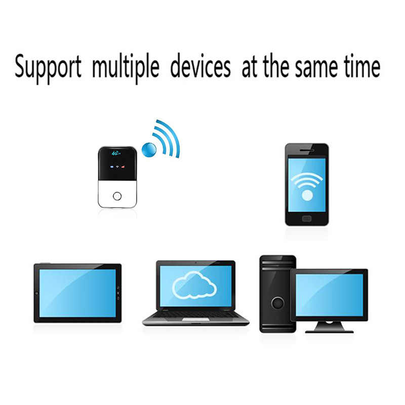 TIANJIE 4G Wifi Router mini router 3G 4G Lte inalámbrico portátil de bolsillo de wi-fi de acceso móvil coche wi-fi Router con tarjeta SIM ranura