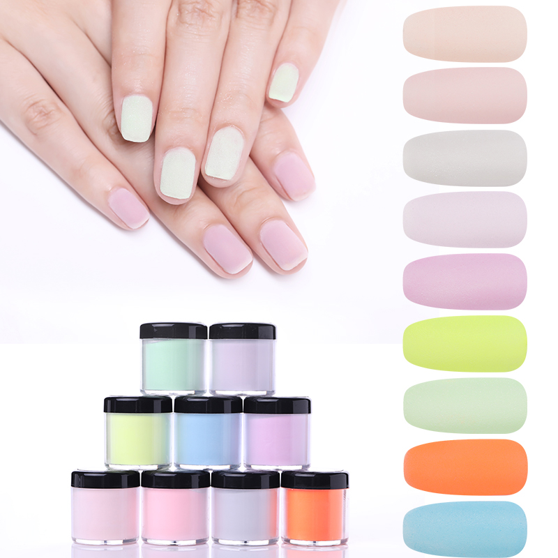NICOLE DIARY 10ml Nail Dip Powder Dipping Powder Without Lamp Cure Nail Colorful Powder Gel Natural Dry DIY Nail Art Decoration