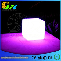 HOT!60CM 100% unbreakable led Furniture large chair/table Magic Dic LED Remote controll square cube luminous light for outdoor