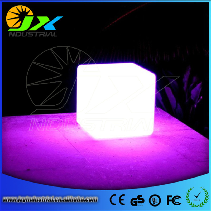 HOT!60CM 100% unbreakable led Furniture large chair/table Magic Dic LED Remote controll square cube luminous light for outdoor alluminum alloy magic folding table bronze color magic tricks illusions stage mentalism necessity for magician accessories