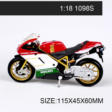 DMH 1:18 Motorcycle Models 1098S 748 S4 miniature race model bike Base Diecast Moto Children Toy For Gift Collection