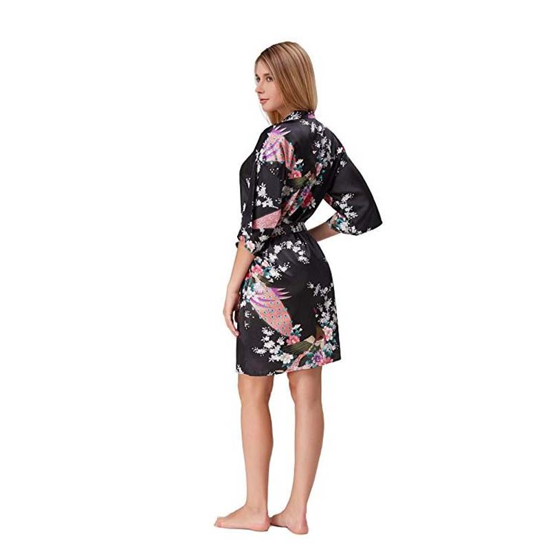 41f7f77d9564 Wedding dressing gowns Bride Mini Robe Kimono Robe Sexy Bridal party Robe  Printed bridesmaid Robe bridal shower giftD124 04-in Robes from Underwear  ...