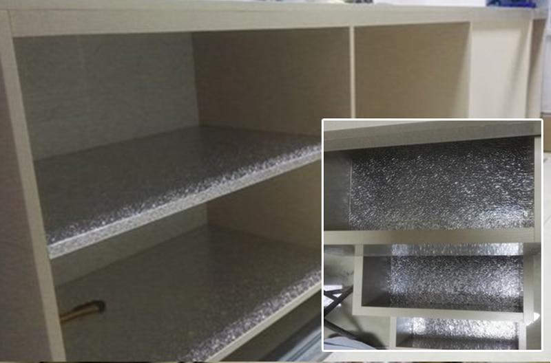 Us 2421 10 Off5 M Dikke Aluminiumfolie Kasten Folie Stickers Waterdicht Anti Olie Zelfklevende Aluminiumfolie Vocht Keuken Lade Pad In Decoratief