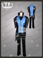 Anime RWBY Mercury Black Cosplay Costume Outift Shirt+Pants+Shoulder protector+Gloves+Leg Cover
