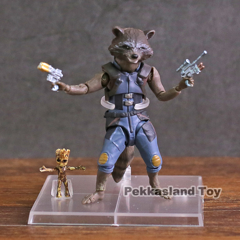 Avengers Infinity War SHF  Rocket Raccoon & Tree Man PVC Action Figure Collectible Model Toy