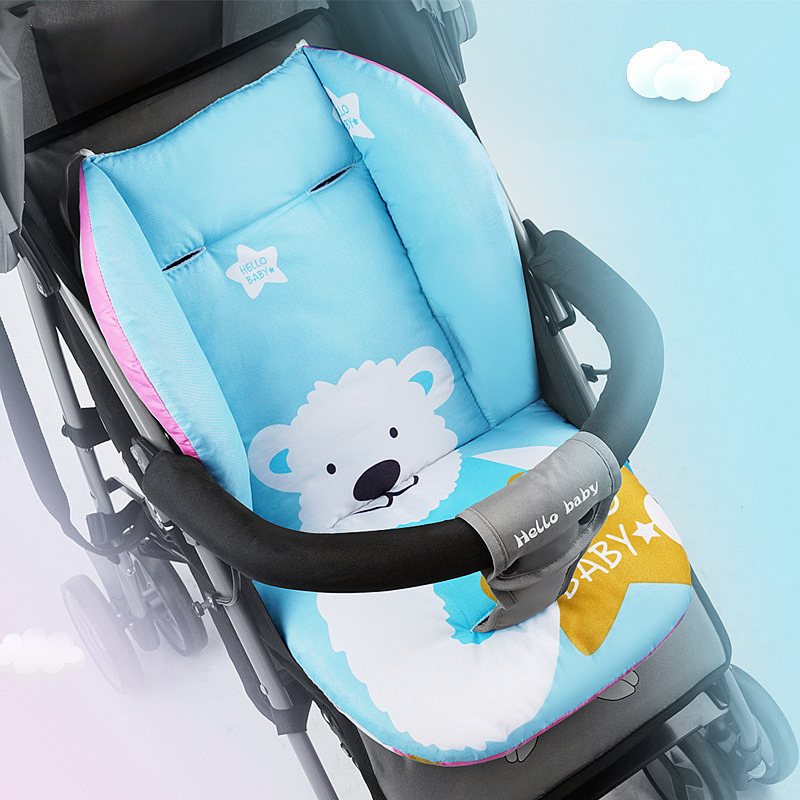 Cute Polar Bear Baby Stroller Seat Cushion Pushchair Pram Cotton Mattress Baby Carriage Seat Padding Liner Stroller Accessory