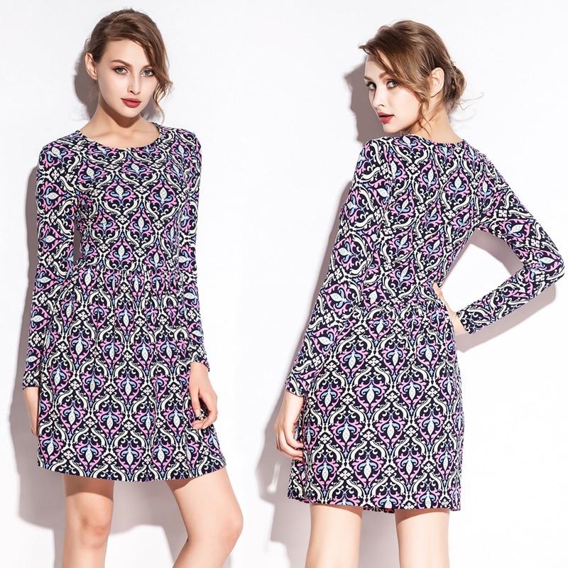 2020 Տպել Գլխավոր T-Shirt զգեստ Նիհար Fit Lycra - Կանացի հագուստ - Լուսանկար 1