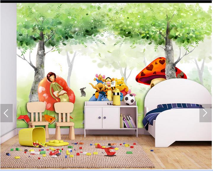 Customized 3d wallpaper 3d tv wallpaper mural background of the head of a  bed children room