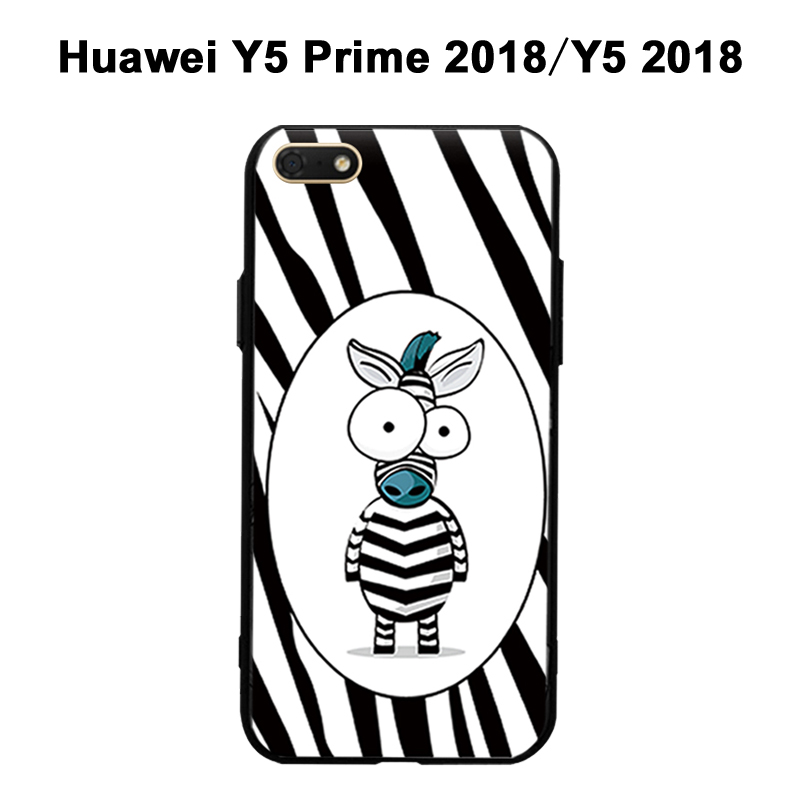 huawei y5 prime 2018 case cover black 3d relief case for huawei y5 2018 case phone silicone