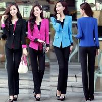 3XL Plus Size Summer Style Elegant Women Pants Suits Women Business Suits Formal Office Suits Work