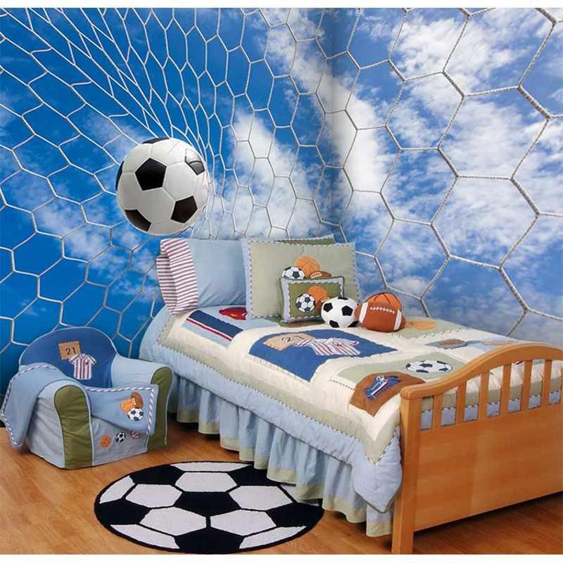 Foto Wallpaper 3D Seri Sepak Bola Wallpaper Stadion KTV Theme Hotel Dekorasi Ruang Tamu Putih Sepak Bola Pintu Wallpaper Mural
