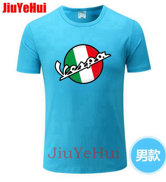 2019 Vintage Vespa 3D   T     Shirt   Men Italy Scooter Brand Vespa Tee   Shirt   Short Sleeve 80's 90's Teenage Motorcycle Youth   T  -  shirt