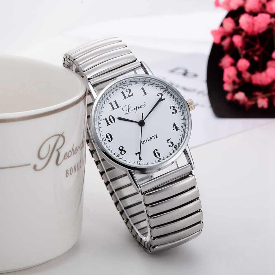 Lvpai New Arrive Brand Silver Lovers Watch Fashion Luxury Watch For Women Ladies Sport Casual Dress Quartz Watch Clock
