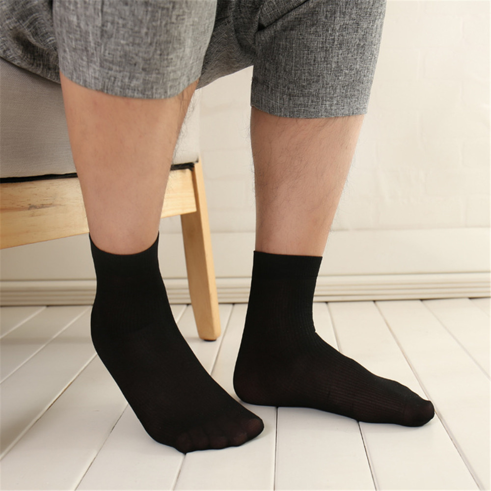 10 Pairs/lot Summer Lady Male Thin Short Socks Stretching Crystal Socks, Soft And Breathable Transparent Men Socks 2018