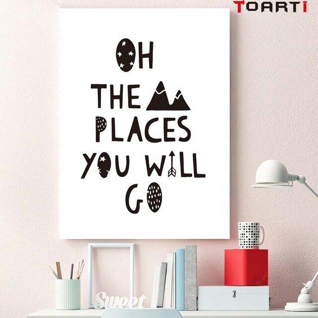 Us 094 53 Offoh Miejscach Będziesz Go Obrazy Na Płótnie Przedszkole Art Plakaty Drukuje Pop Podróży Tematem Zdjęcia Malucha Nastolatek Domu Pokój