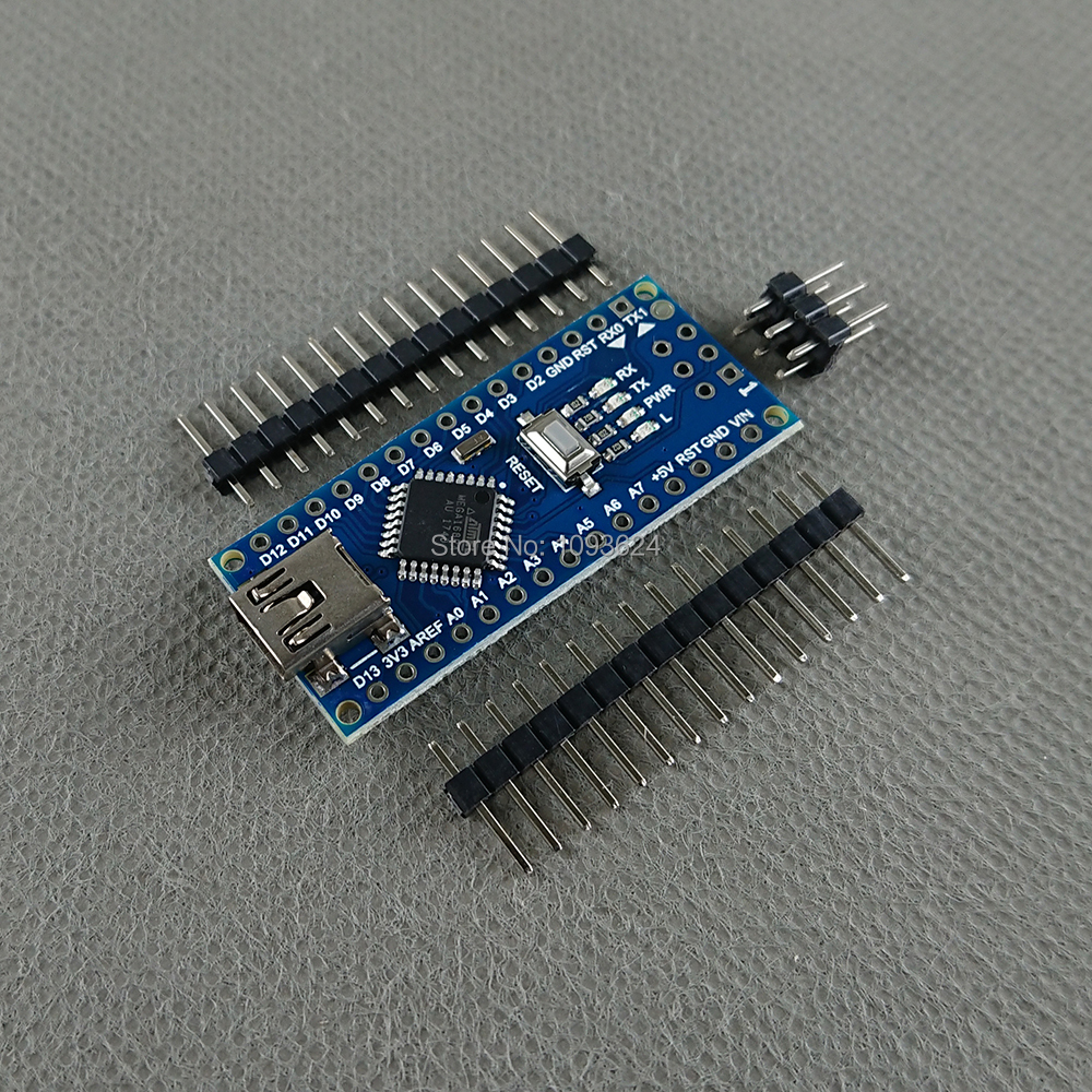 Thinary Electronic 1pcs Nano Atmega168 controller compatible for arduino nano Atmega168P CH340 CH340G CH340C USB driver NO CABLE