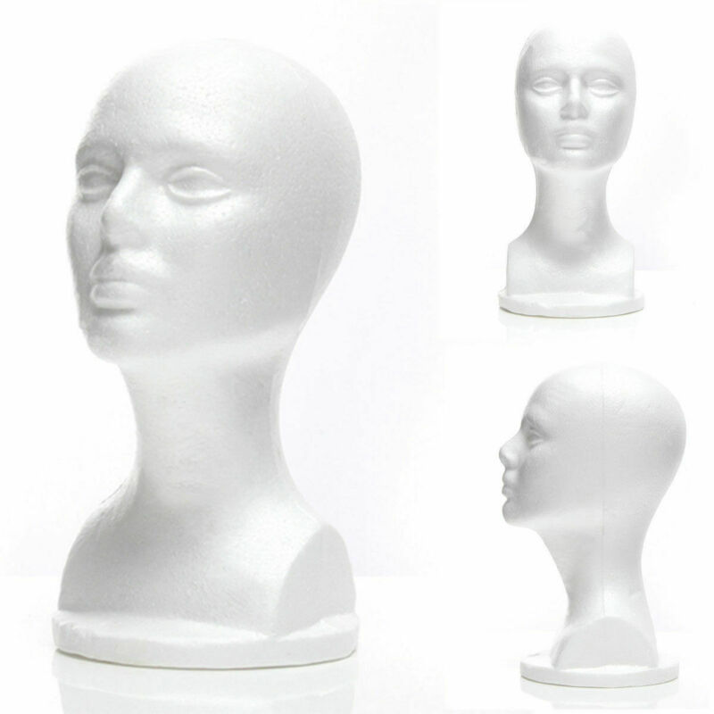 Foam Styrofoam Mannequin Foam Wig Hair Head Model Glasses Hat Wig Display Stand