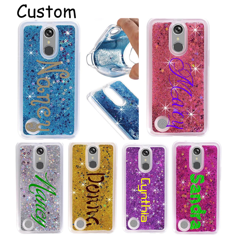 For LG K10 2017/ K20 plus soft sillicone glitter clear case customized phone cover for LG K20 plus / K10 2017/ For LG V5