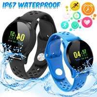 Intelligente Wristband Inseguitore di Fitness Heart Rate Monitor di Pressione Sanguigna Smart Orologio Da Polso Impermeabile Intelligente Del Braccialetto Per Gli Uomini Le Donne Smartband