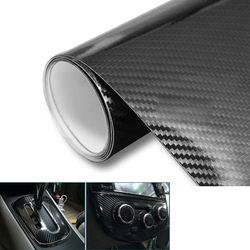5D hojas de película de vinilo autoadhesivo para coche Membrana de fibra de carbono muy brillante envoltura aire burbuja liberación libre sin burbujas 1,5 m x 60cm DIY