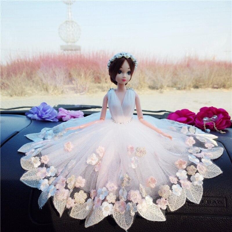 Lutka + haljina + veo / luksuzna čipka velika bijela nevjesta svadba - Lutke i pribor - Foto 3