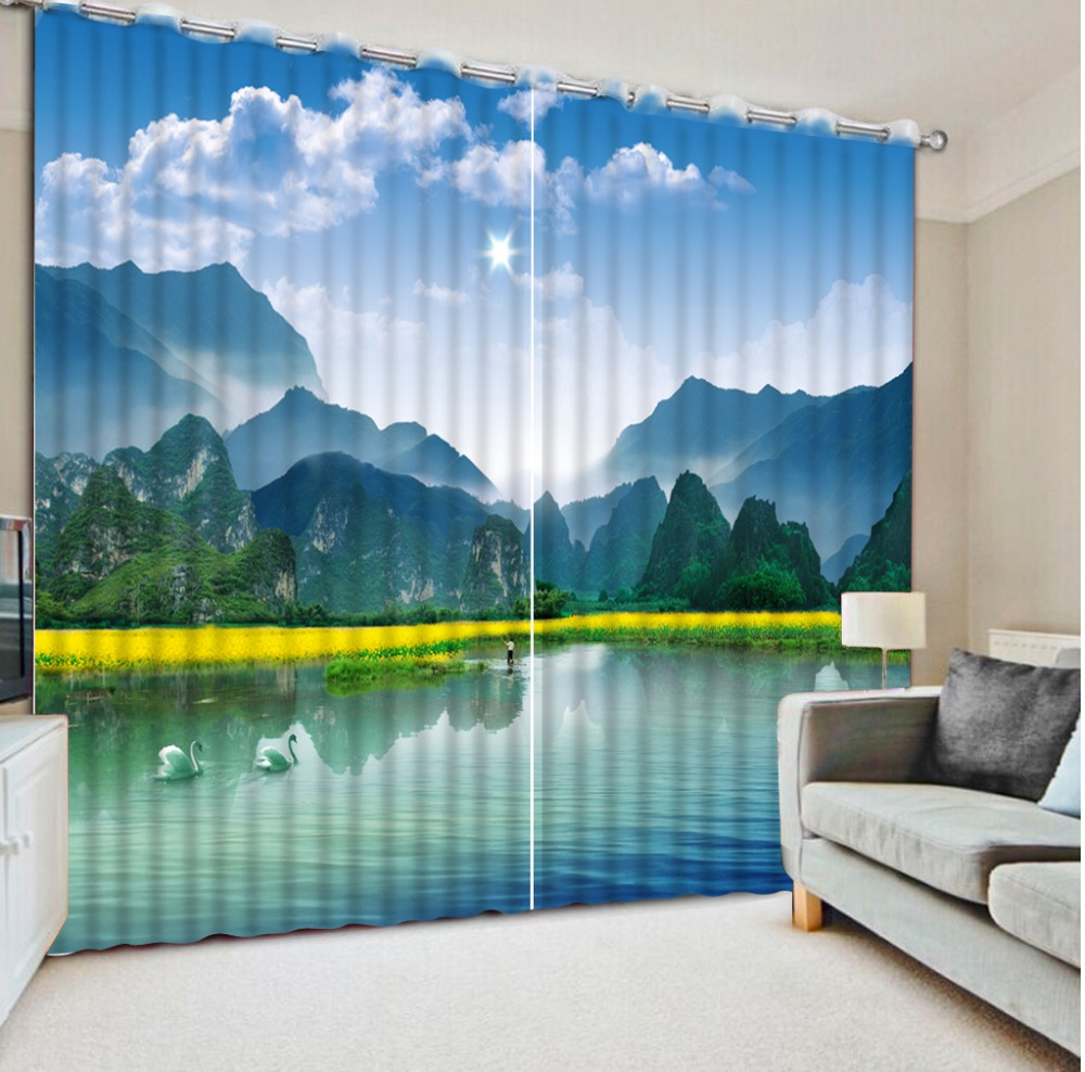 Scenery Curtains online get cheap scenery curtains for bedrooms -aliexpress