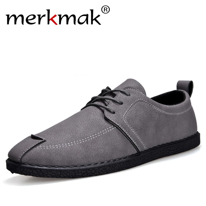 Merkmak Men Casual Shoes PU Genuine Leather Loafer Shoes Moccasins Comfortable Soft Spring Autumn Footwear Male Driving Shoes vesonal driving brand genuine leather casual male shoes men footwear adult 2017 spring autumn comfortable soft driving for man
