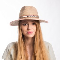 Muchique summer hats for women mixed color paperbraid panama fedora sun hat with wide brim trilby.jpg 200x200