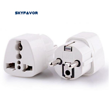 3PCS Global Universal EU plug Adapter US AU UK to europe plug adapter 250V 10A AC Power Travel adapter plug EU Socket Converter