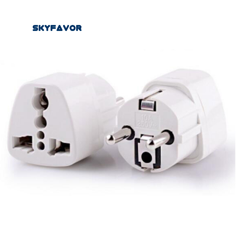 2PCS Global Universal EU plug Adapter US AU UK to europe plug adapter 250V 10A AC Power Travel adapter plug EU Socket Converter