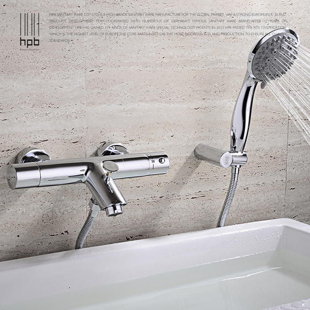 Free shipping thermostatic valve waterfall bathtub faucet,brass Hot and cold bath faucet,waterfall bathroom faucets Shower Set